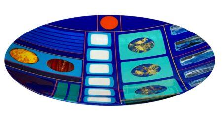 Margaret Heenan Voyage Art Glass Platter