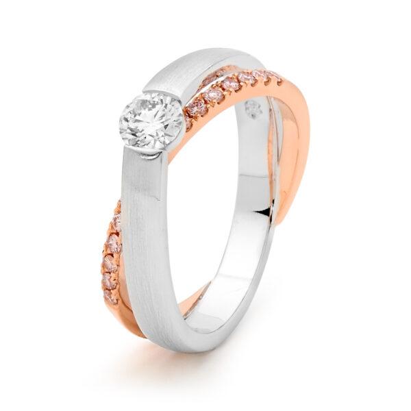 Desert Rose Jewellery Alluring Pink Diamond Ring