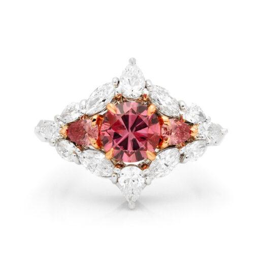 Desert Rose Jewellery Blushing Beauty 1Carat Pink Diamond Ring Front