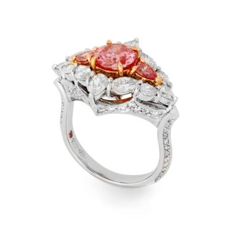 Desert Rose Jewellery Blushing Beauty 1carat Pink Diamond Ring Side Angle