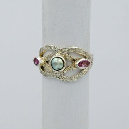 Jane Liddon Abrolhos Pearl Tourmaline Ring