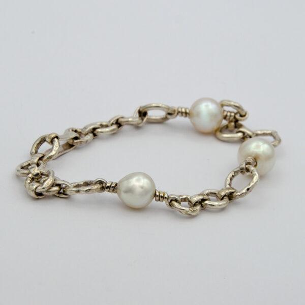 Jane Liddon Akoya Pearl Irregular Link Bracelet