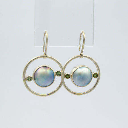 Jane Liddon Fancy Sapphire Mape Pearl Earings