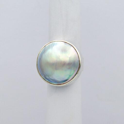 Jane Liddon Large Round Mabe Pearl Ring