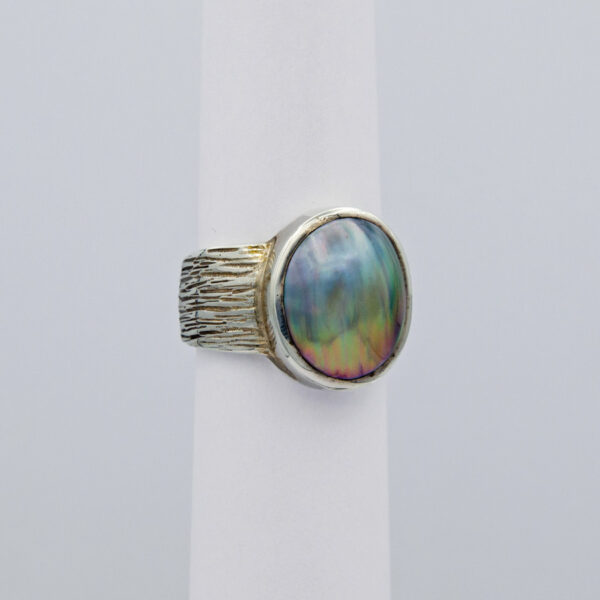 Jane Liddon Mabe Pearl Etched Ring