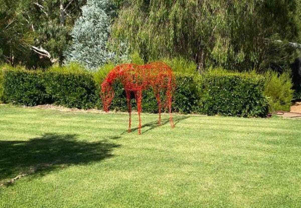 Lauren Wilhelm Horse Sculpture Example In Garden