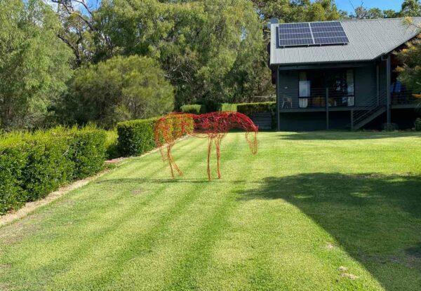 Lauren Wilhelm Horse Sculpture Example On Lawn