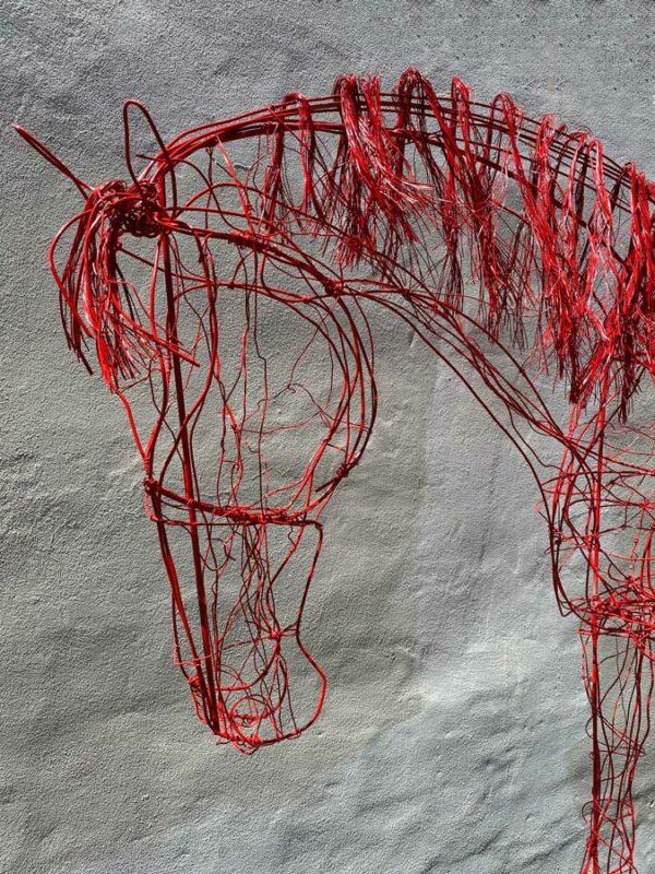 Lauren Wilhelm Softness Horse Sculpture Detail