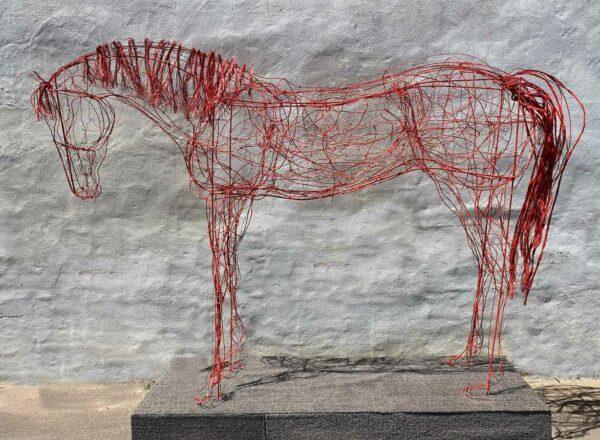 Lauren Wilhelm Softness Horse Sculpture