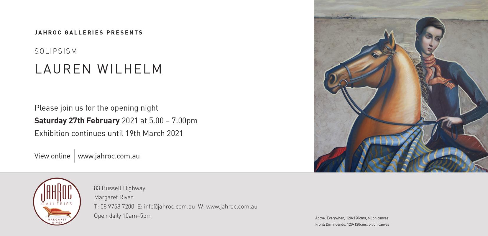 Lauren Wilhelm Solipsism Exhibition At Jahroc Galleries Back