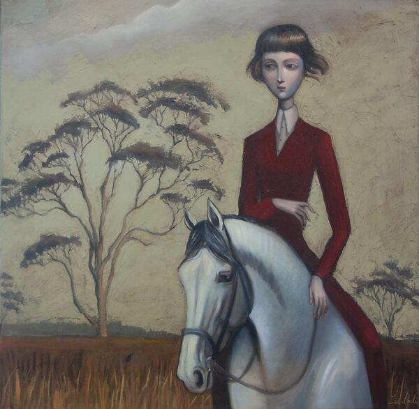 Lauren Wilhelm What Lies Beyond The Horizon Painting