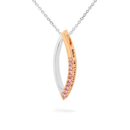 Desert Rose Jewellery Modern Curve Pink Diamond Pendant Edjp08