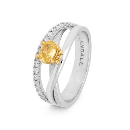 Edjr008y023 Desert Rose Jewellery Yellow Diamond Suspension Ring