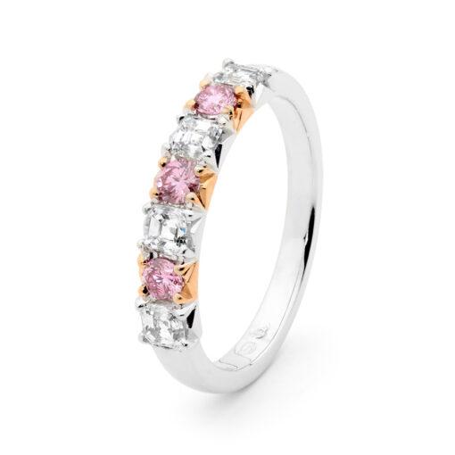 Edjr032 001 Desert Rose Jewellery Princess Pink Diamond Dress Ring