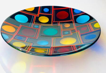 Margaret Heenan Planetarium Glass Platter