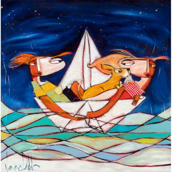Janine-Daddo-And-So-Sail-With-Dreams-A-Plenty-Painting